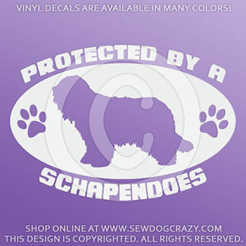 Protected by a Schapendoes Decal