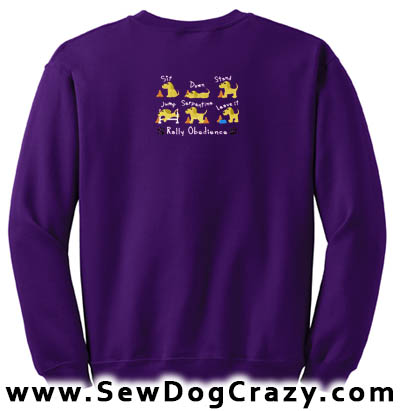 Embroidered Rally Obedience Sweatshirt