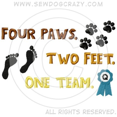 Four Paws Two Feet One Team Shirts