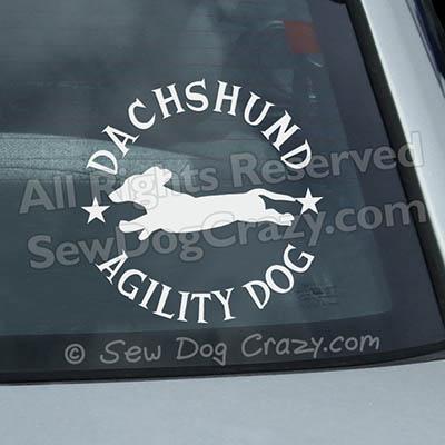 Dachshund Agility Car Window Stickers