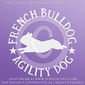 French Bulldog Agility Decals