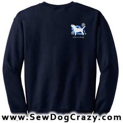 Embroidered Beagle Snowflakes Sweatshirt