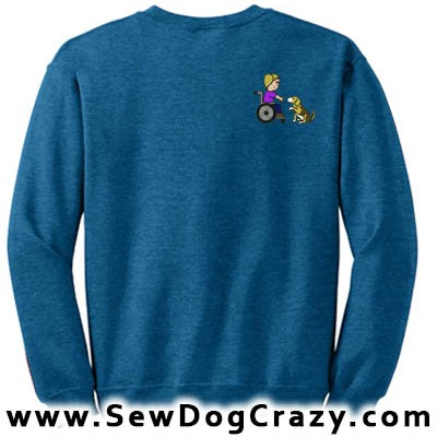 Embroidered Beagle Therapy Dog Sweatshirts