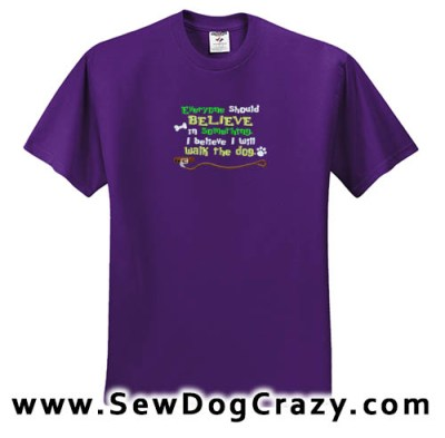 Embroidered Walk the Dog Tshirt