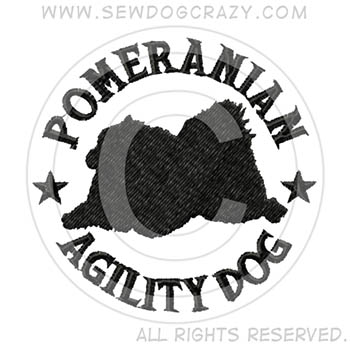 Embroidered Pomeranian Agility Shirts