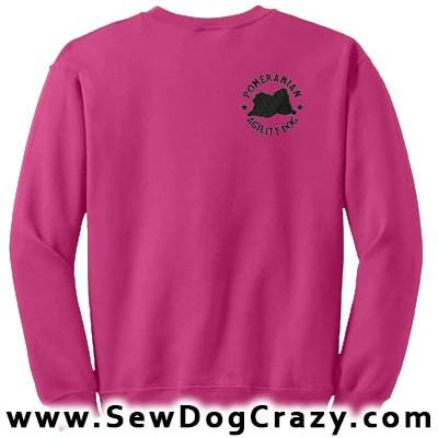 Embroidered Pomeranian Agility Sweatshirts