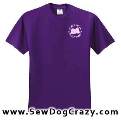 Pomeranian Agility Tshirt