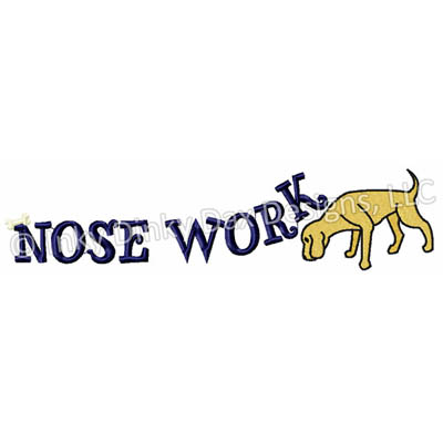 Sniffing Dog Nose Work Embroidery