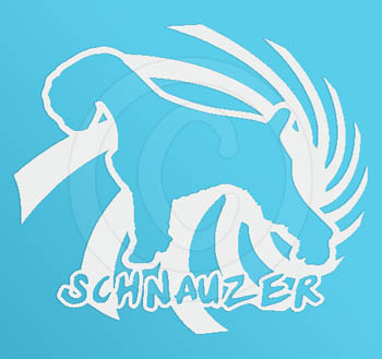 Fun Schnauzer Vinyl Sticker