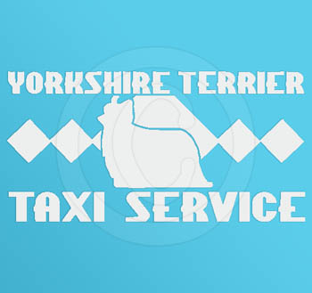 Funny Yorkie Taxi Decals