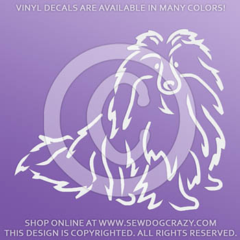 Beautiful Shetland Sheepdog Vinyl Sticker
