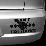 Beagle Taxi Bumper Stickers