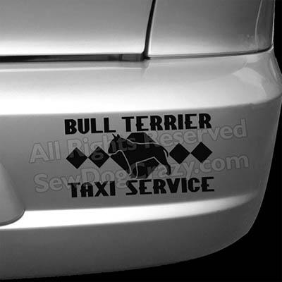 Bull Terrier Taxi Car Stickers