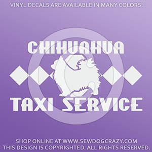 Long Haired Chihuahua Taxi Decals