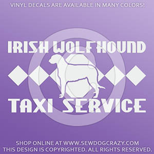 Funny Irish Wolfhound Taxi Decals