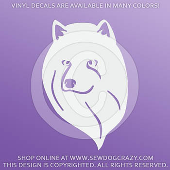American Eskimo Dog Head Profile Window Decal
