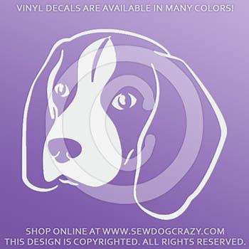 Beagle Head Car Sticker
