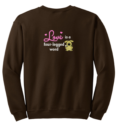 Country Dog Embroidered Sweatshirt