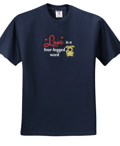 Cute Country Dog Lover Embroidered T-Shirt