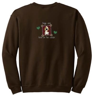 Kids in Fur Coats Embroidered Sweatshirt