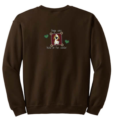 Kids in Fur Coats Embroidered Sweatshirt