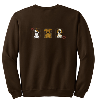 Stitched Dogs Embroidered Sweatshirt