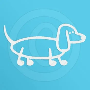Cute Dachshund Stick Figure Decals