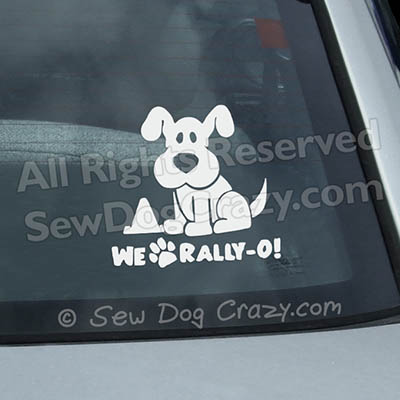 We Love RallyO Vinyl Stickers