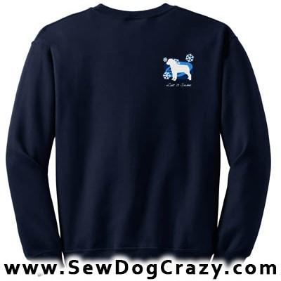 Embroidered Rottweiler Snow Sweatshirt