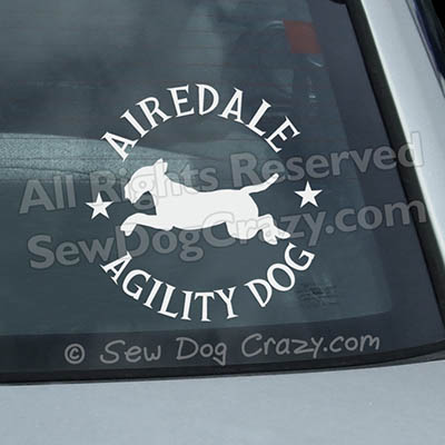Airedale Agility Car Window Stickers
