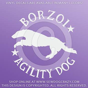 Borzoi Agility Decals