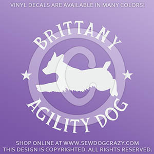 Brittany Agility Dog Decals