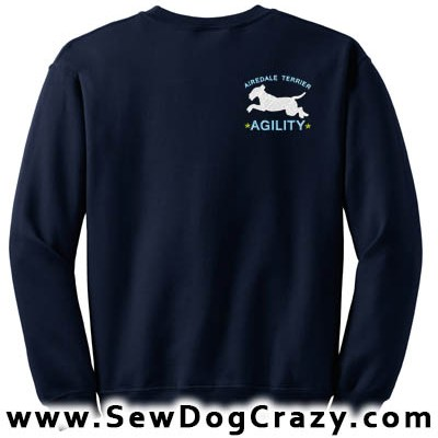 Embroidered Airedale Terrier Agility Sweatshirts