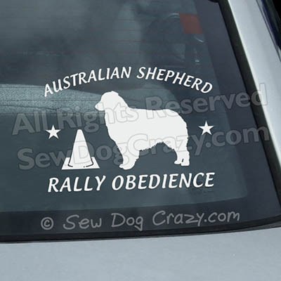 Aussie Rally Obedience Decals