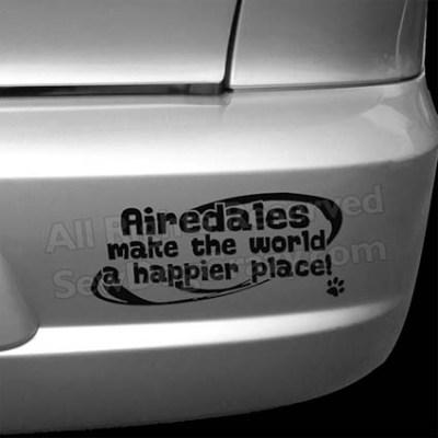 Cute Airedale Bumper Stickers