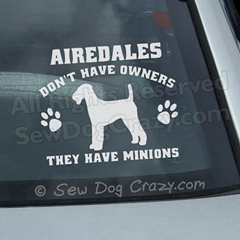 Funny Airedale Terrier Car Window Sticker