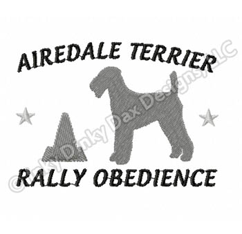 Airedale Terrier Rally-O Embroidery