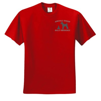 Embroidered Airedale Rally-O T-Shirt