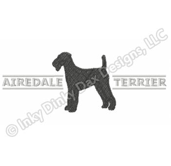 Cool Airedale Terrier Embroidery