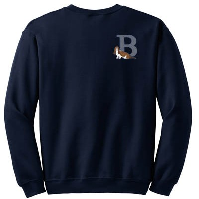 Basset Hound Embroidered sweatshirt