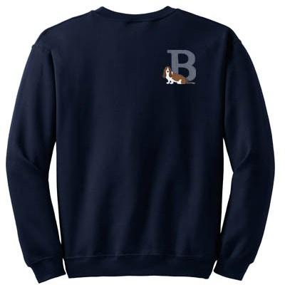 Basset Hound Embroidered sweatshirt