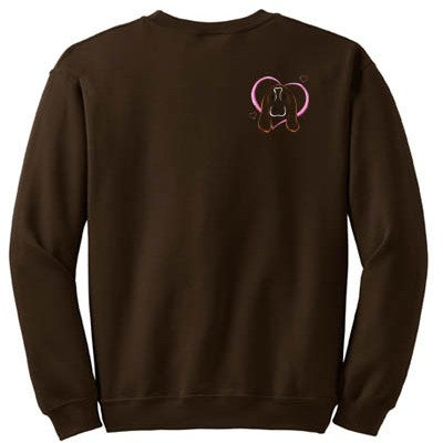 Heart Basset Hound Embroidered Sweatshirt