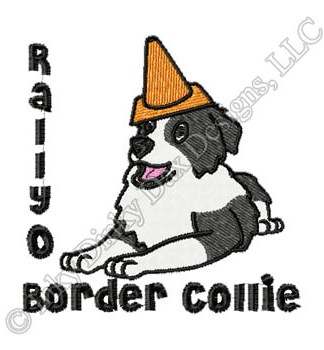 Funny Border Collie Embroidery