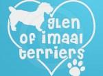 Love Glen of Imaal Terriers Vinyl Stickers