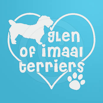 Love Glen of Imaal Terriers Vinyl Stickers