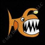 Cartoon Angler Fish Embroidery