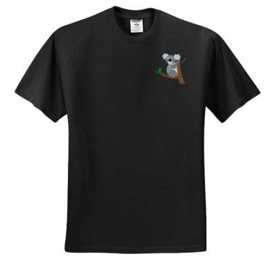 Cute Koala Embroidered T-Shirt
