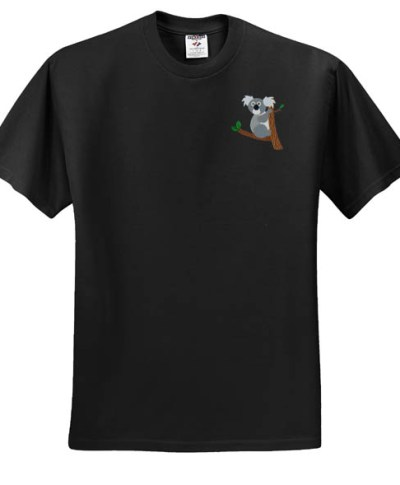 Cute Koala Embroidered T-Shirt