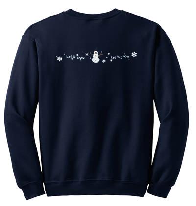 Embroidered Snowman Sweatshirt