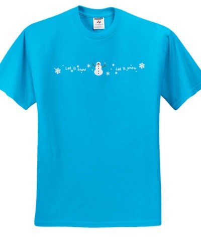 Snowman Embroidered TShirt